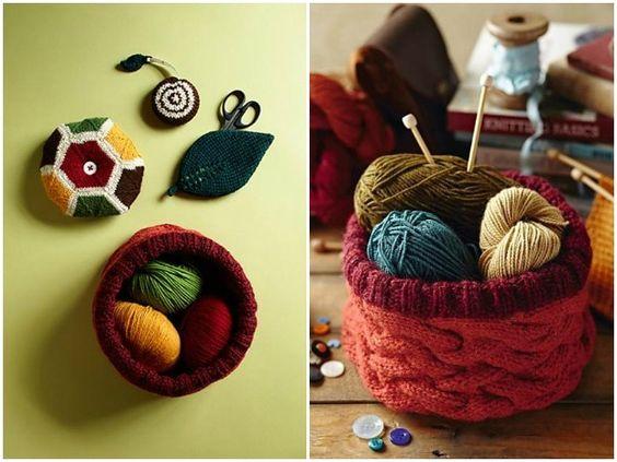 Top 10 stashbuster knitting patterns: knitted gift set by Kyoko Nakayoshi