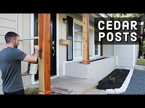 How To Wrap Posts In Cedar Wood Tutorial Youtube In 2020 Porch Post Wraps Cedar Posts Wood Columns Porch