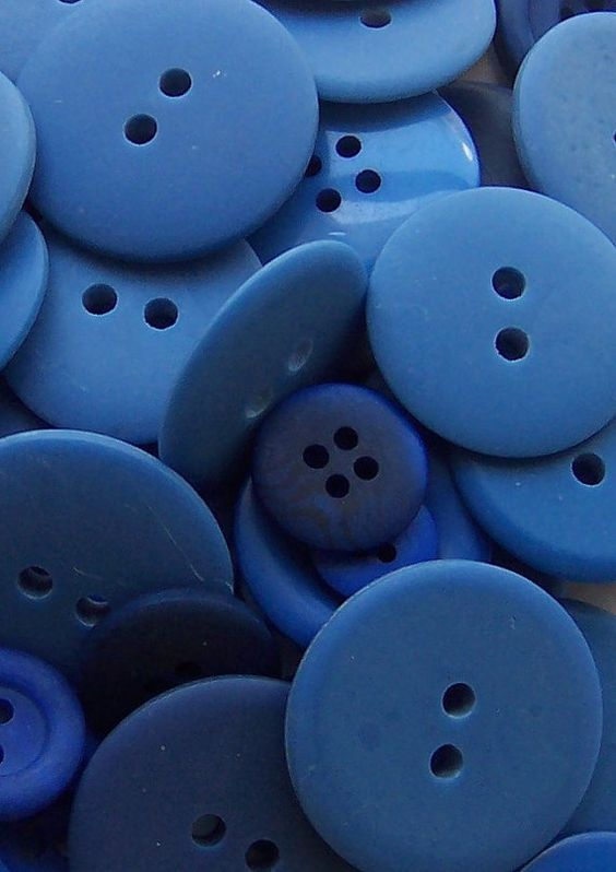 BULK  Buttons  BLUE  OVER 50 by Boxtreasures on Etsy, $3.99