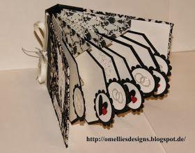 Omellie's Designs: Pop Up/Explosion Card/Album zur Hochzeit für ihn und ihn