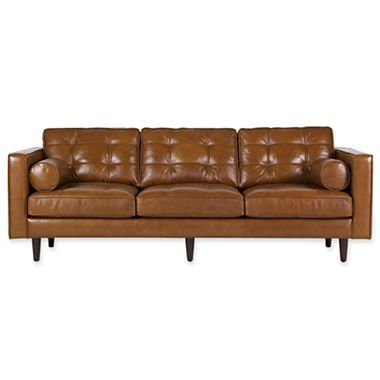 Darrin 89quot leather sofa jcpenney chair obsession for Jcpenney sectional sofas