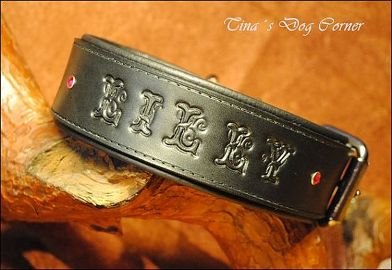 leather dog collar individual with name
