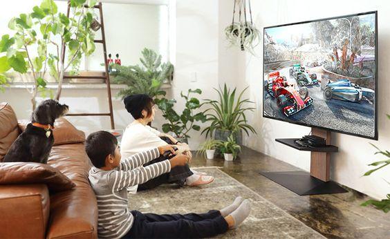 テレビスタンド ウォールナット フラット ベース コーディネート例