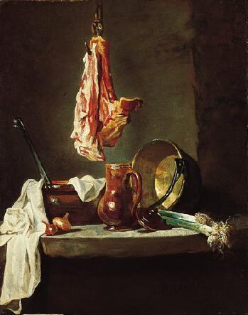 Jean-Baptiste Siméon Chardin - still life with cooking utensils