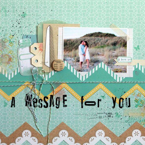 A Message for You by  Karine Cazenave-Tapie - Scrapbook.com