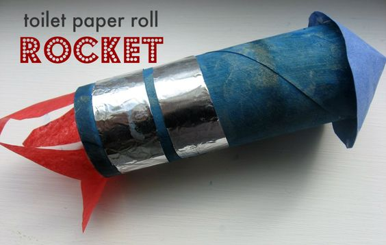 Toilet paper roll rocket toilets towels and space theme for Paper roll projects