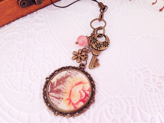 Vintage Style Washi Tape Pendant Planner Charm by PrettySang