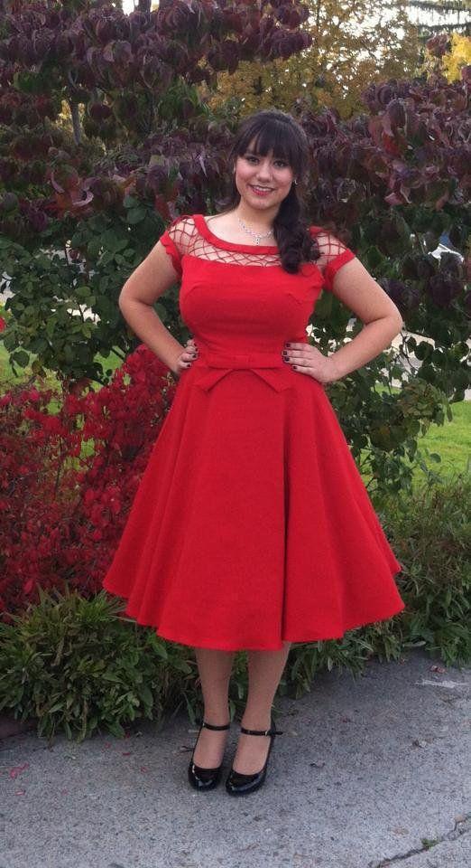 vestido rojo (talla grande)