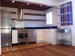 Modern Kitchen - Stainless Steel Appliances, , Reclaimed Soapstone  countertops, Ikea base cabinets,