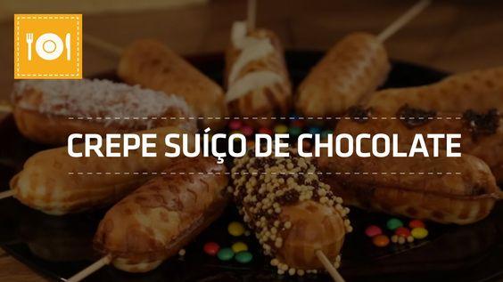 Crepe Suíço de Chocolate | Receita | Shoptime