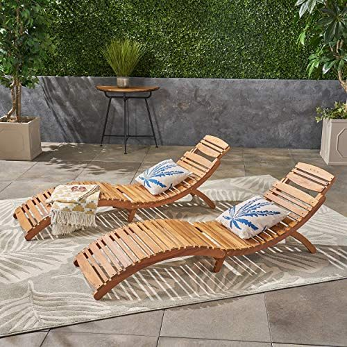 Christopher Knight Home 296060 Set Of 2 Lisbon Outdoor Folding Chaise Lounge Chair In 2020 Outdoor Chaise Lounge Chair Lounge Chair Outdoor Clearance Patio Furniture