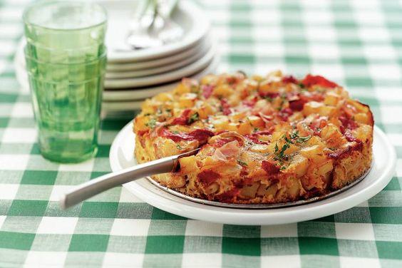 Kijk wat een lekker recept ik heb gevonden op Allerhande! Spaanse aardappeltortilla met bacon