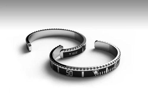 Die markanten Lünetten von Taucheruhren wurden von Marco Gatti Torina zu tollen Armbändern designt. SBR1262