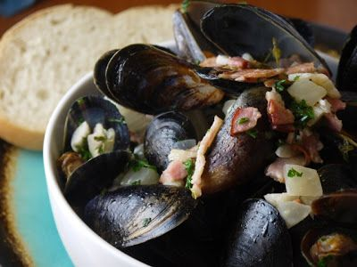 ... Bacon and Fennel | Clockwatching Tart | Pinterest | Mussels, Fennel