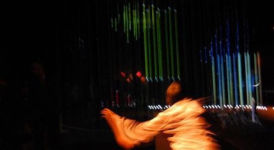 Luzes e cordas produzindo um lindo efeito!