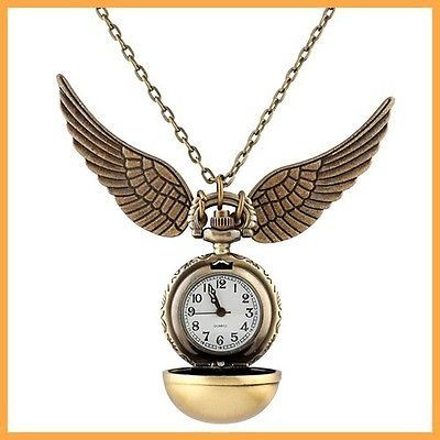 Harry #potter snitch watch #necklace steampunk quidditch pocket #clock pendant ip,  View more on the LINK: 	http://www.zeppy.io/product/gb/2/221847420575/