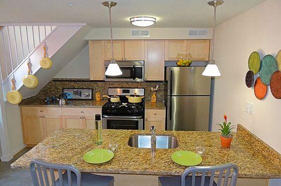 Kitchen - 1 Bedroom Apartment - 1700 Summit Building, Richmond, VA  Wendy Holland  Gas stoves Stainless Steel Appliances Garage parking