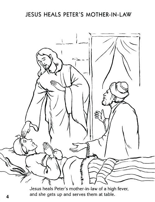 32++ Jesus heals peters mother in law coloring page HD
