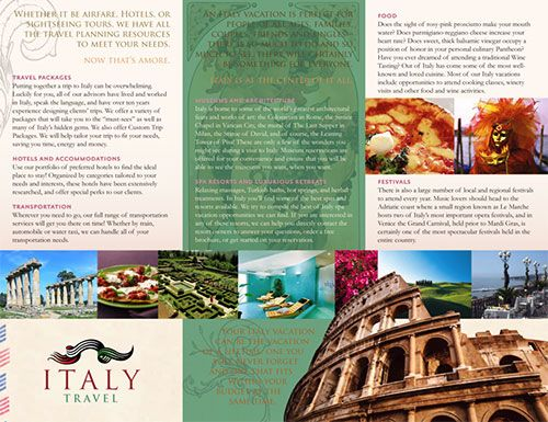Travel Brochure Design I Like The Picture Reel Going Across All 3