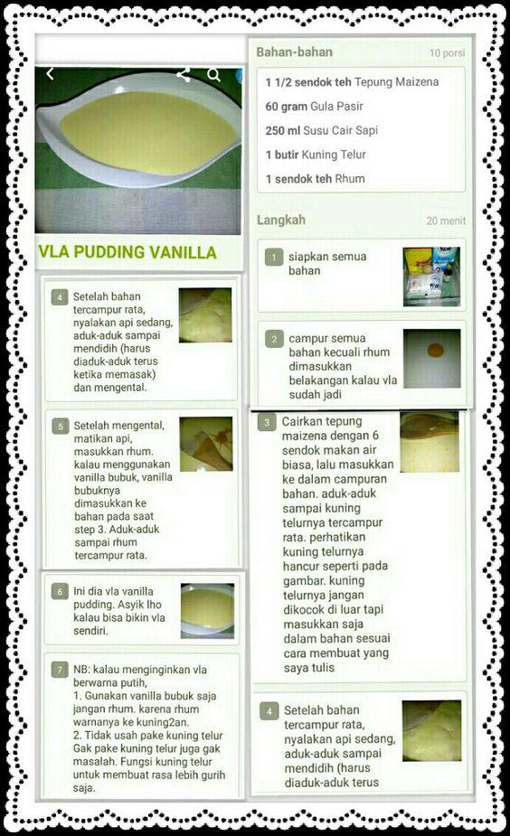Cara Membuat Vla : membuat, Pudding, Vanilla