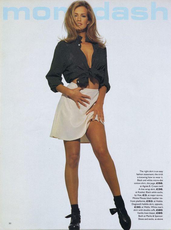 Karen Mulder  by Andrew MacPherson for Vogue  UK . June 1992
