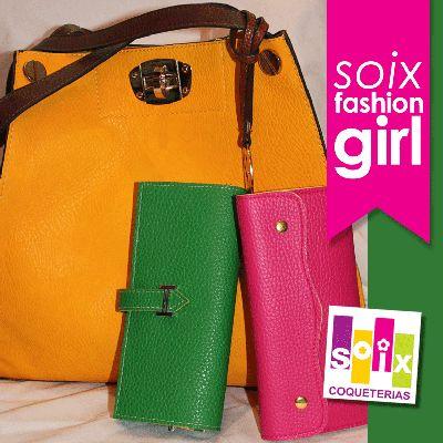 Bolsa amarilla y carteras combinables... Tu eliges: verde o rosa??