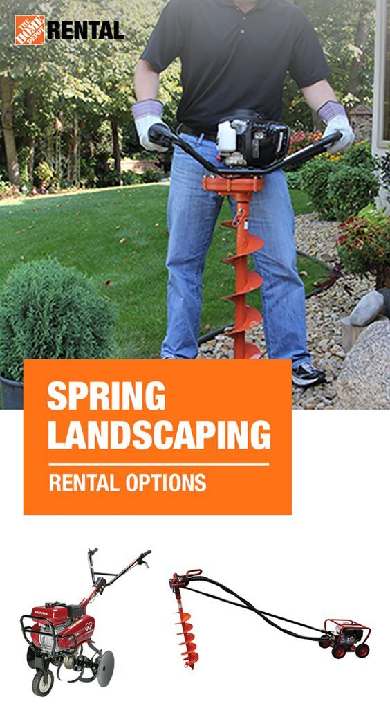 The Home Depot Can Help Make Your Landscaping Work Easier This