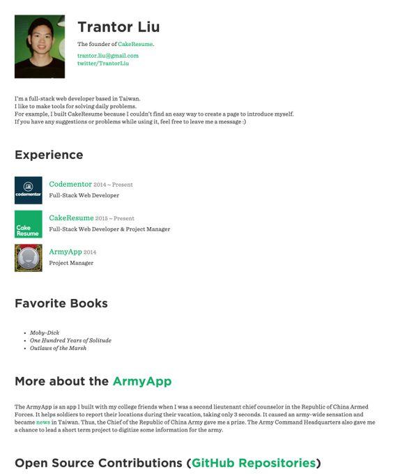 Nikki Vivianu0027s CakeResume #ResumeExample #ResumeTemplate #Resume - resume building app
