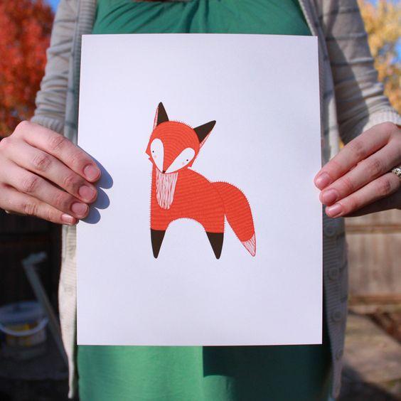 Fab.com | October Fox Print