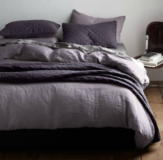 dark purple and grey bedding google search house pinterest gray bedding dark brown and. Black Bedroom Furniture Sets. Home Design Ideas