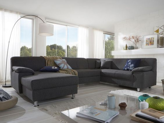 Couch u form modern  Best 20+ Sofa u form ideas on Pinterest | Wohnlandschaft u form ...