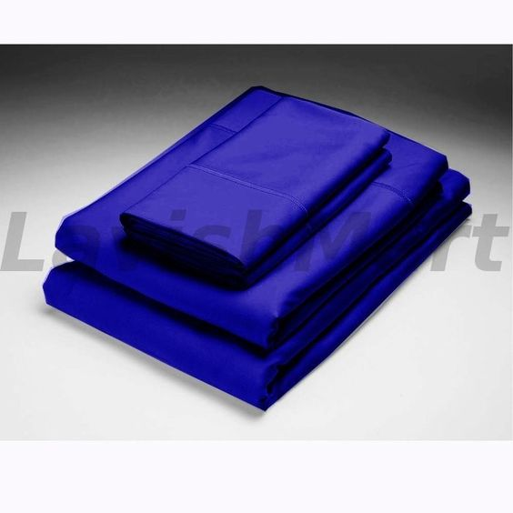 Egyptian Cotton Bedding Royal Blue Bed Fitted Sheet 1000TC