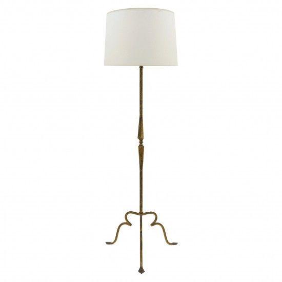 Gilt Iron Standing Lamp Retro Floor Lamps Floor Lamp Lamp Shades
