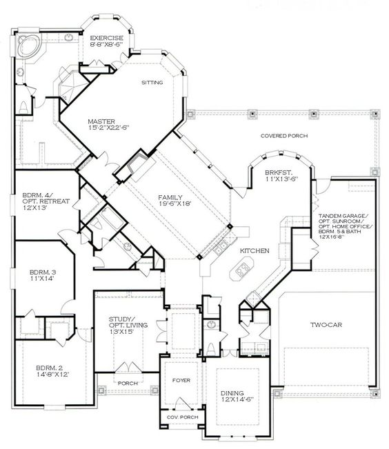 Kind of obsessed with this one story floor plan | For the Home | Pinterest  | House, Nice and Future