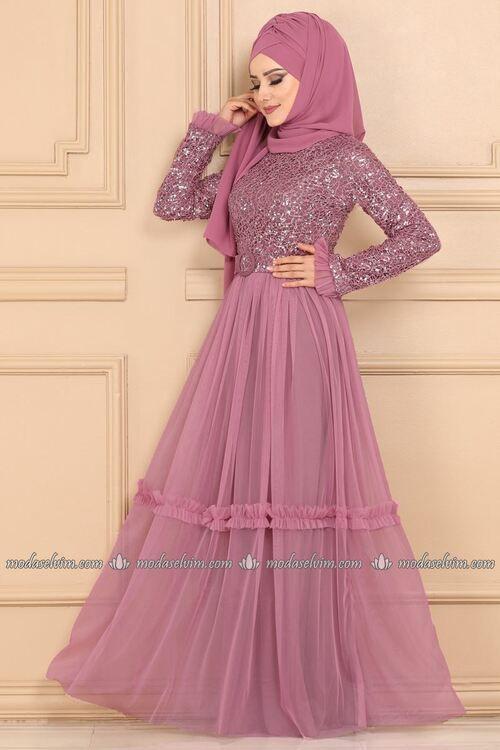 Modaselvim Abiye Etegi Tul Payetli Abiye Ech7332 Gul Kurusu Moda Stilleri The Dress Elbiseler