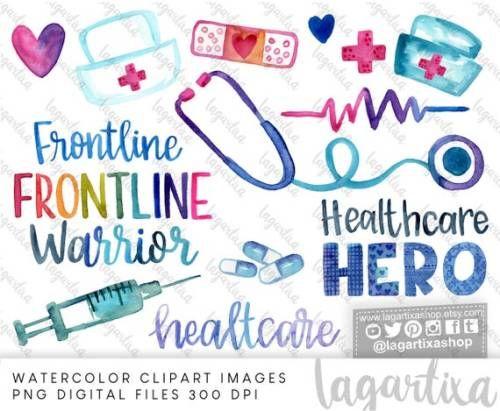 Buy Now Nurse Doctor Sublimation Png Watercolor Design Clipart In 2020 Clip Art Lettering Watercolor Design