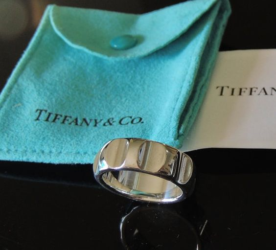0ddf08db3 ... handsome mens modernistic tiffany co. paloma picasso sterling true love  mens ring band sz ...
