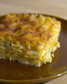 Southern comfort food, with generous helpings of both Monterey Jack and cheddar cheeses; evaporated milk creates a creamy texture under the golden-brown surface.