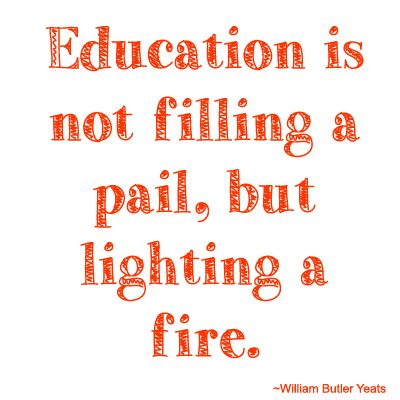 Education is not filling a pail, but lighting a fire. youthfortechnology.org