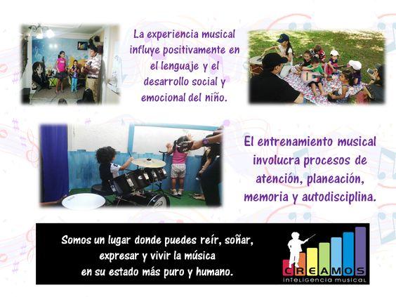 La experiencia musical influye positivamente en el lenguaje, el desarrollo social y emocional del niño.