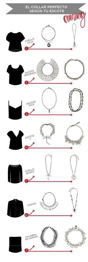 ¿No sabes qué collar ponerte con cierto tipo de escote? Nosotros te tenemos opciones.: