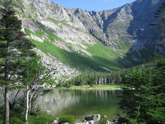The view of Katahdin's Knife Edge from Chimney Pond campground in Maine ...a spectacular hike!