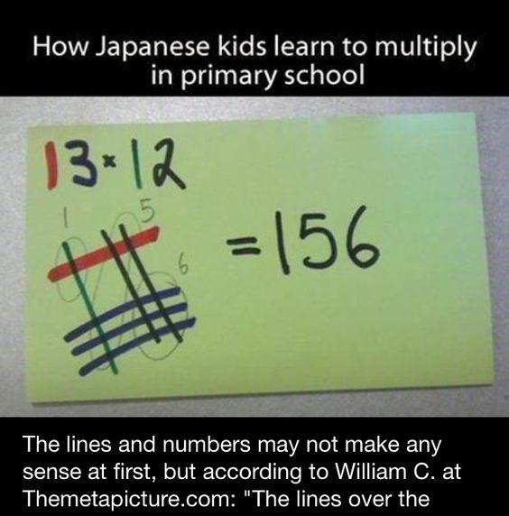 Japanese Math Trick | Teach-interests | Pinterest | Math and Maths tricks