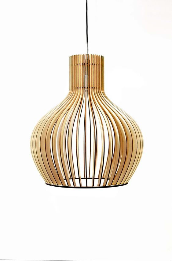Scandinavian style wooden hanging lamp lighting wooden for Natural wood chandelier