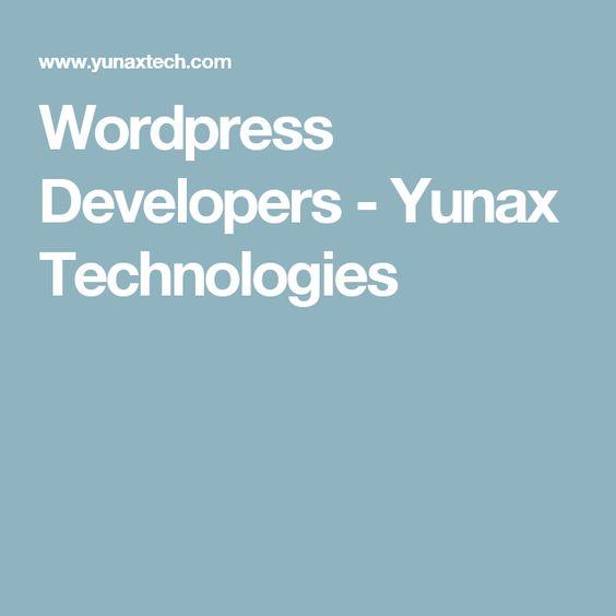 Wordpress Developers - Yunax Technologies