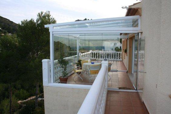 Cerramiento de cristal cortinas de cristal pinterest - Techos para terrazas ...