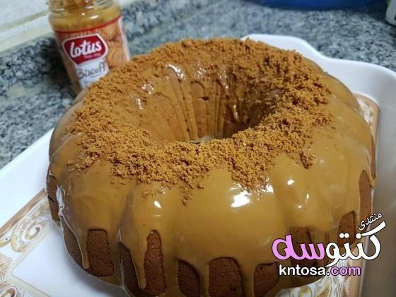 طريقة عمل كيك اللوتس مقادير كيكة اللوتس الرائعة طريقة تحضير كيك اللوتس بالصور Kntosa Com 16 19 155 Food Desserts Bagel