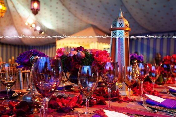 Arabian nights themed wedding Table tops