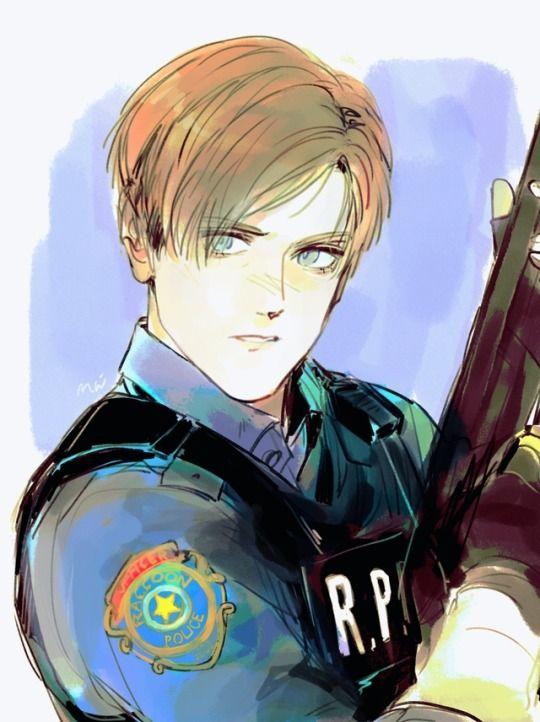 ผลการค นหาร ปภาพสำหร บ Resident Evil 2 Fan Art Resident Evil Leon S Kennedy Anime