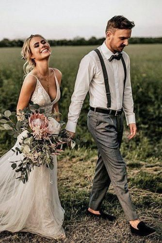 The Most Popular Groom Suits ★ groom suits charcoal pants white shirt with suspenders bowtie chris and ruth